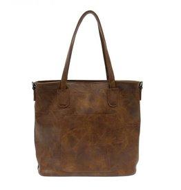 - Pecan Zip Tote Handbag