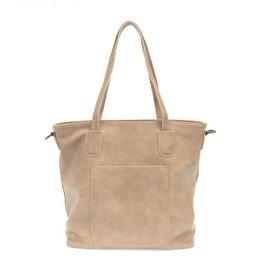 - Flax Zip Tote Handbag