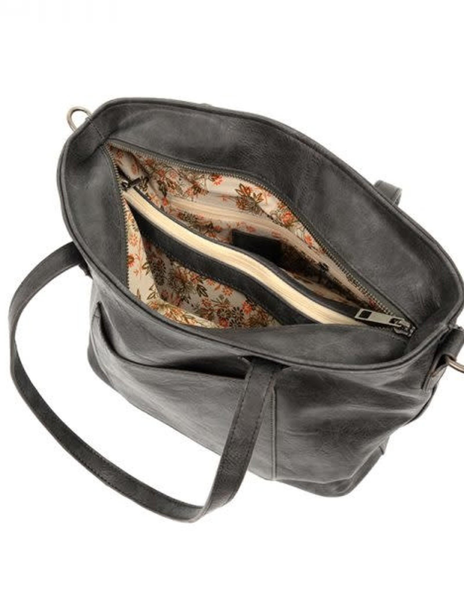 - Storm Grey Zip Tote Handbag