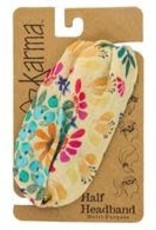 - Cream Floral Versatile Headband