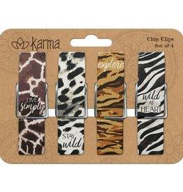 - Animal Print Chip Clips
