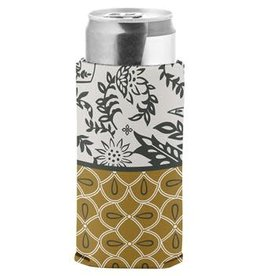 - Mustard Print Slim Can Cooler