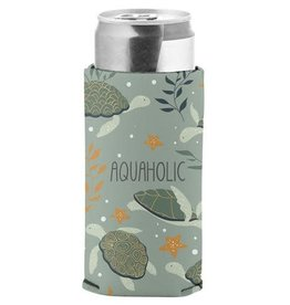 - Aquaholic Slim Can Cooler