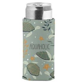 - Aquaholic Slim Can Cooler