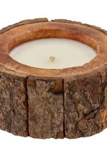 "- Wood 4"" French Vanilla Soy Candle"