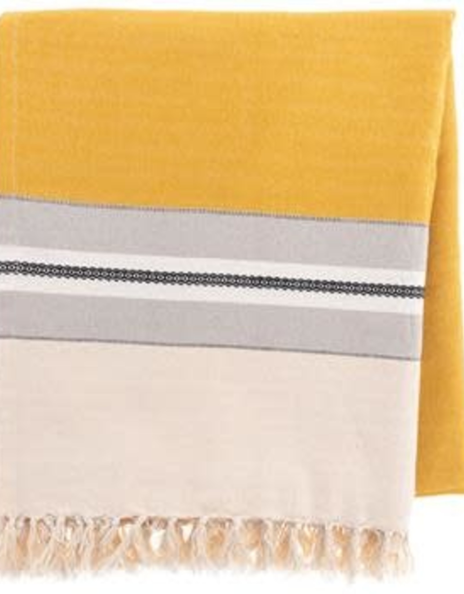 - Mustard/Cream Beach Blanket
