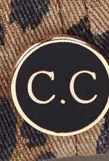 - C.C. Criss Cross Animal Print Baseball Cap w/Epoxy Button for Masks