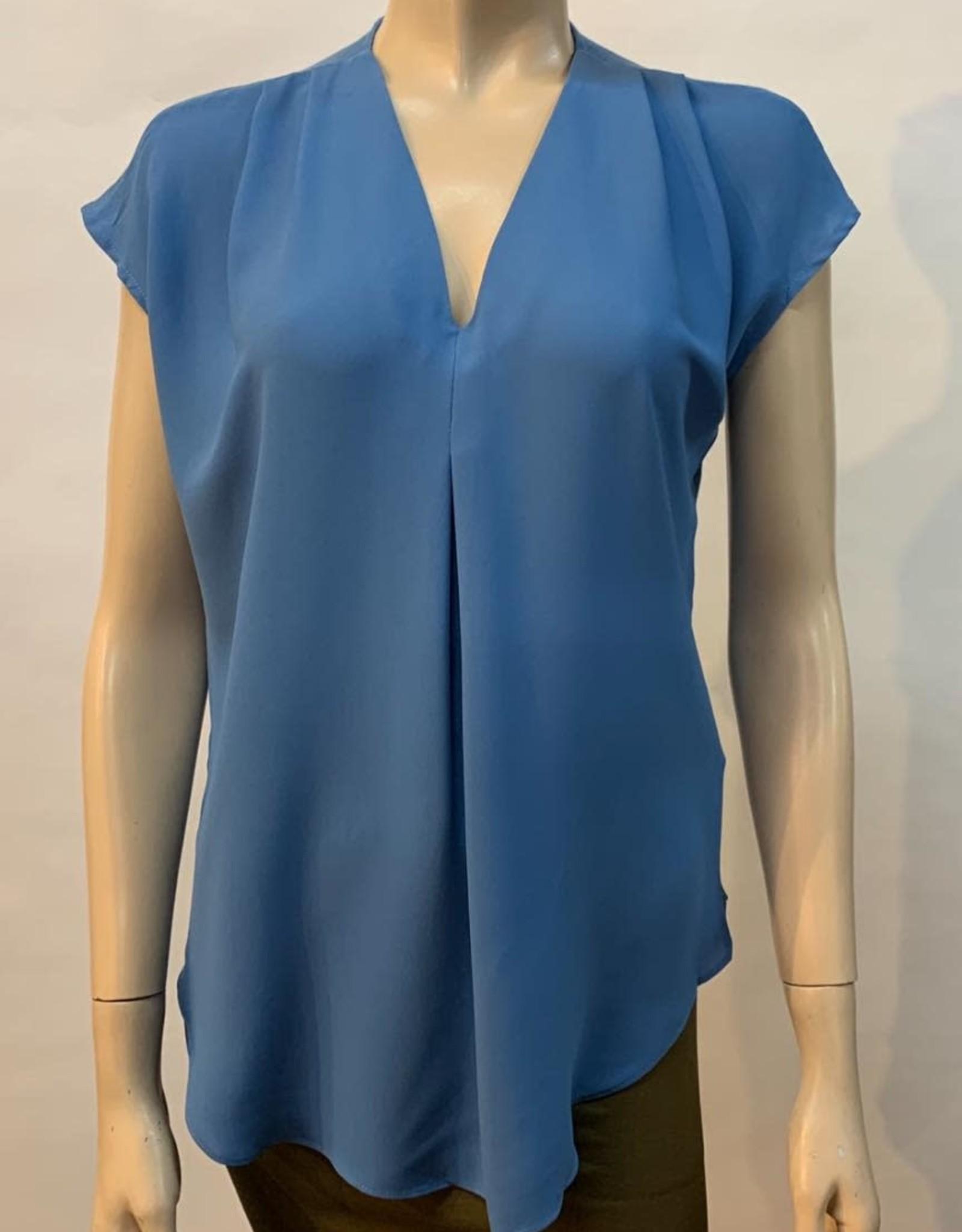 - Blue Cape Sleeve Top