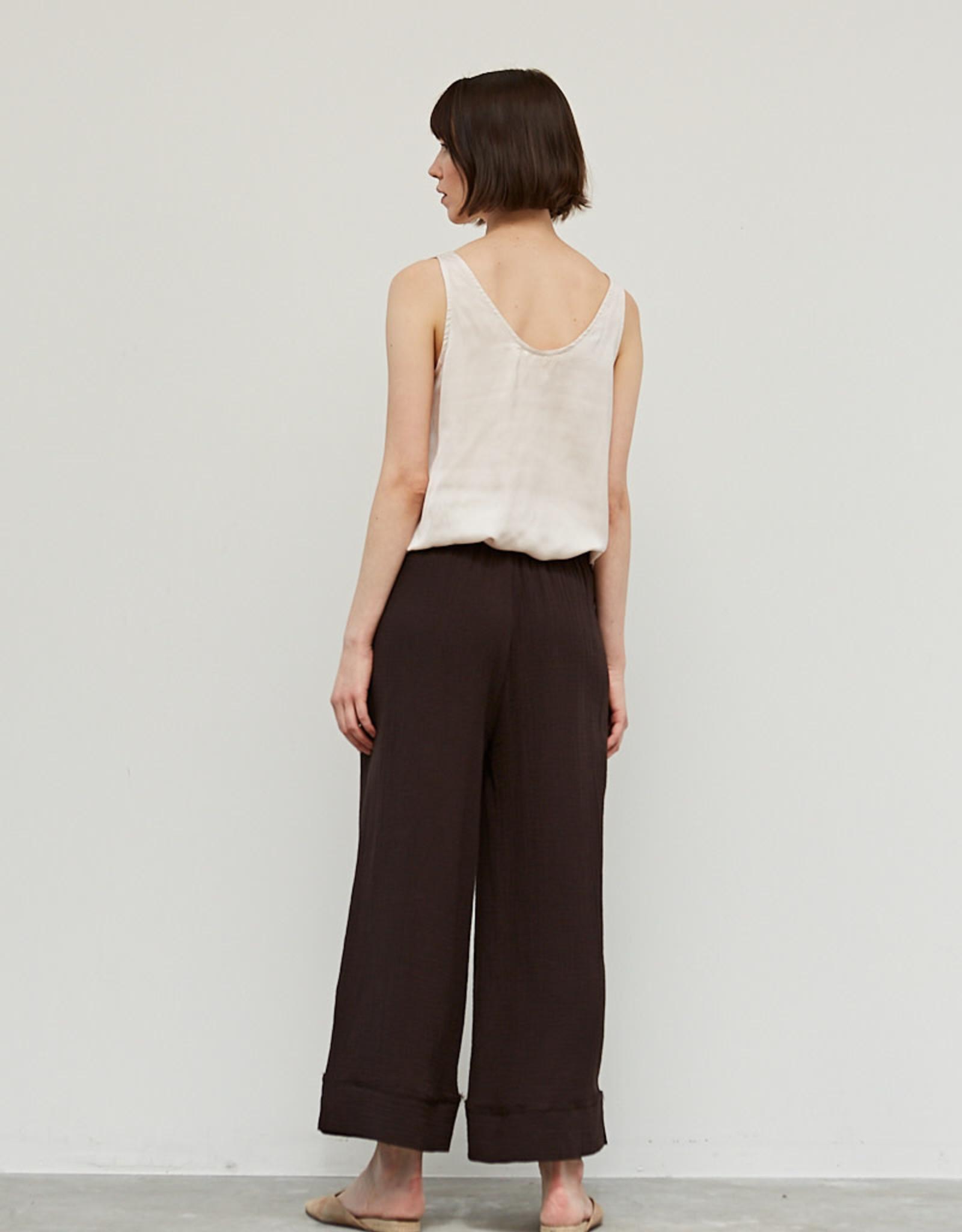- Black Coffee Double Gauze Cotton Pant