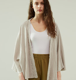 - Haze Gauze Raw Edge Cardigan