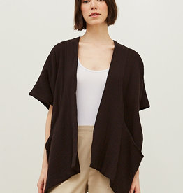 - Black Coffee Gauze Kite Cardigan