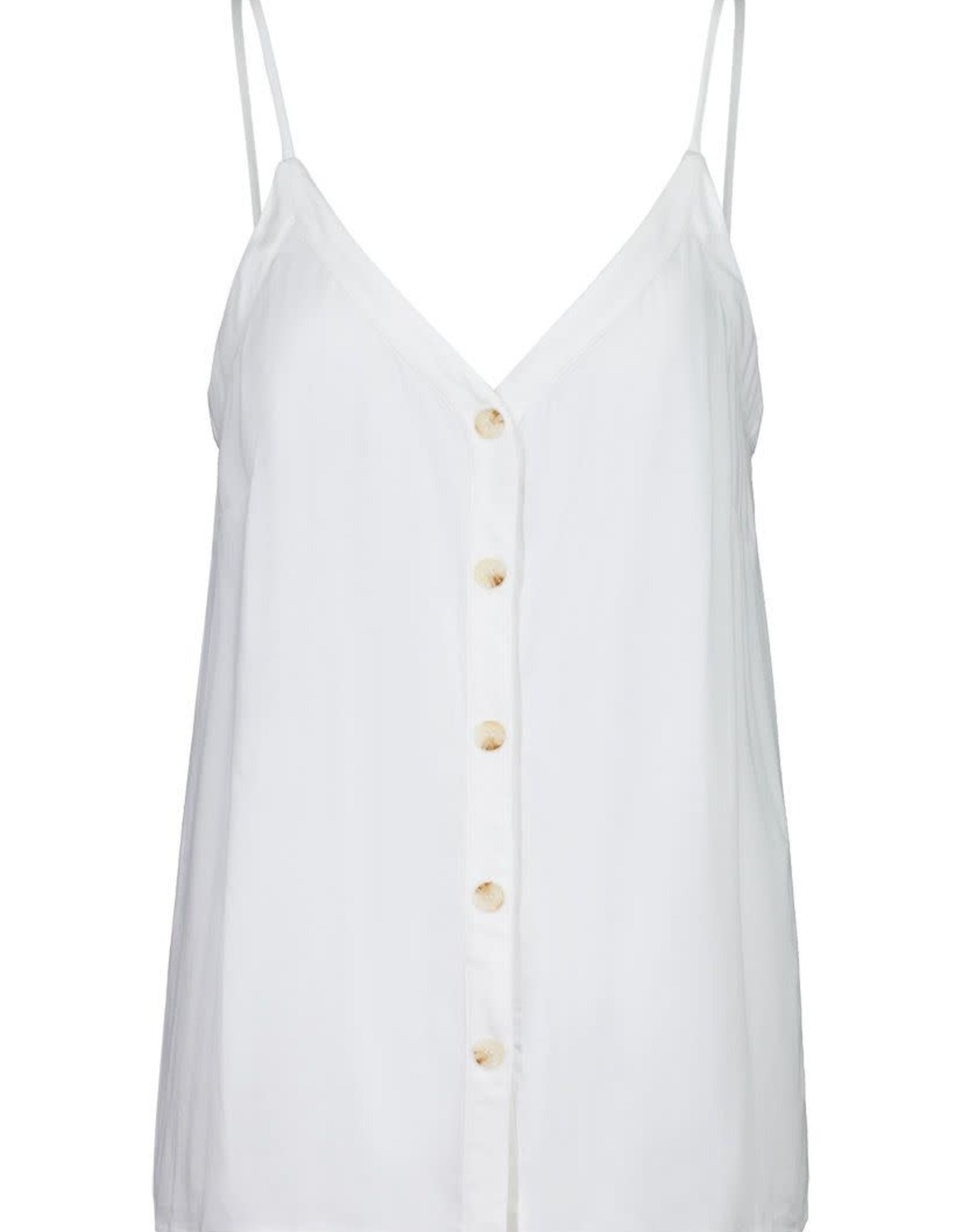 Tribal White Button Down Cami Tank