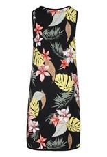 Tribal Reversible Solid Black or Tropical Print Tank Dress