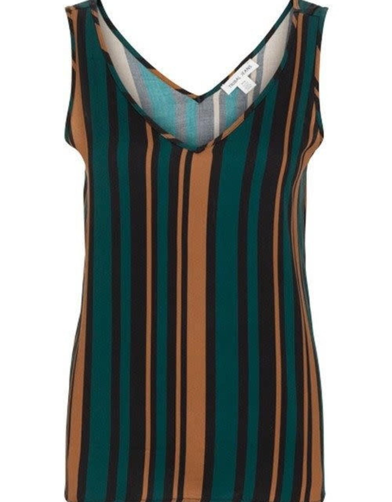 Tribal Turquoise/Brown/Black Stripe Swing Tank