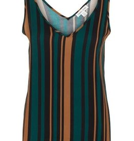 Tribal Turquoise/Brown/Black Stripe Swing Tank