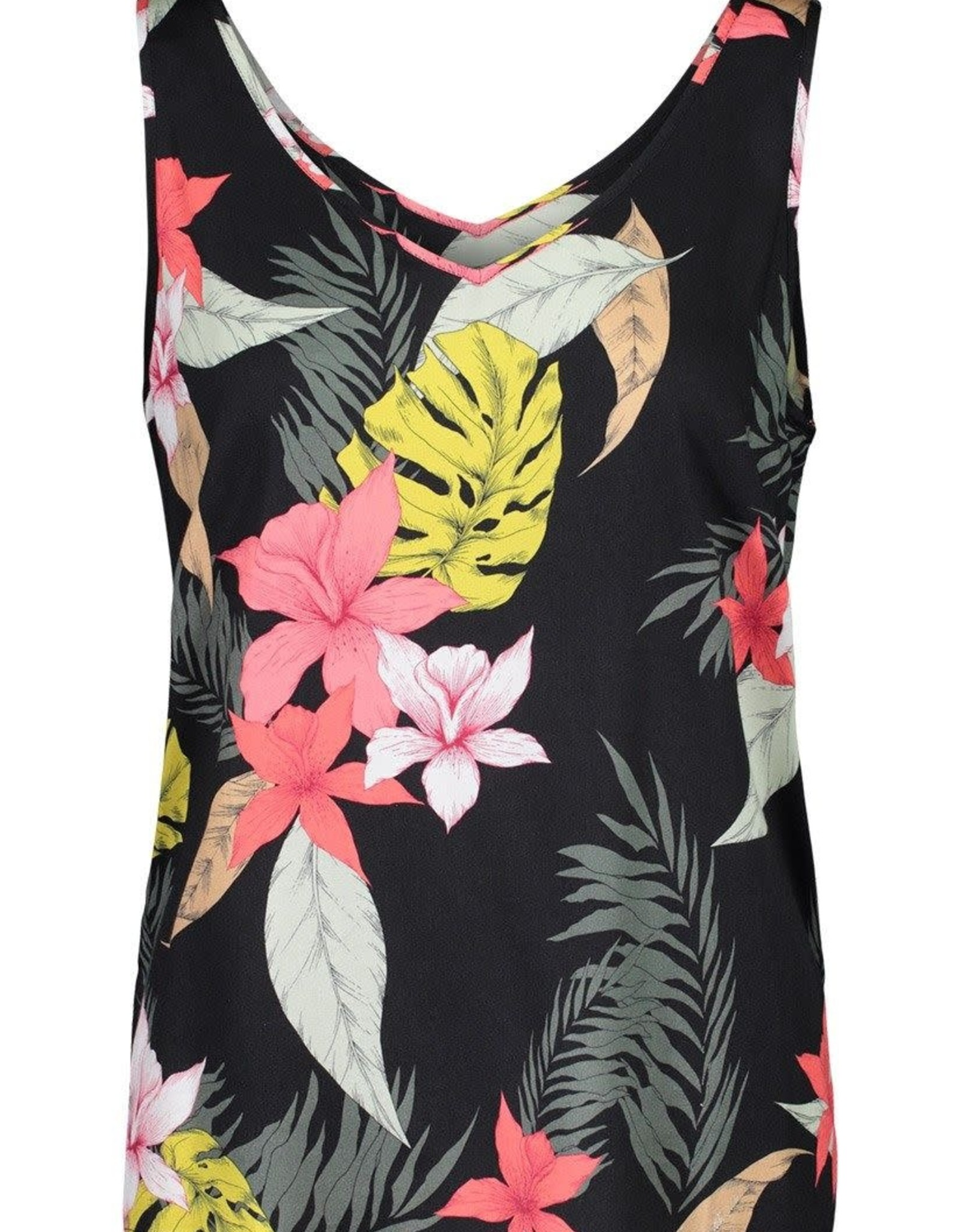Tribal Black Tropical Print Swing Tank