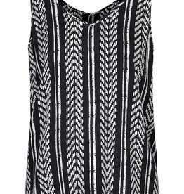 Tribal Black & White Print Swing Tank