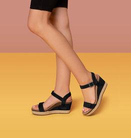 - Black Arch Support Espadrille Wedge Sandal