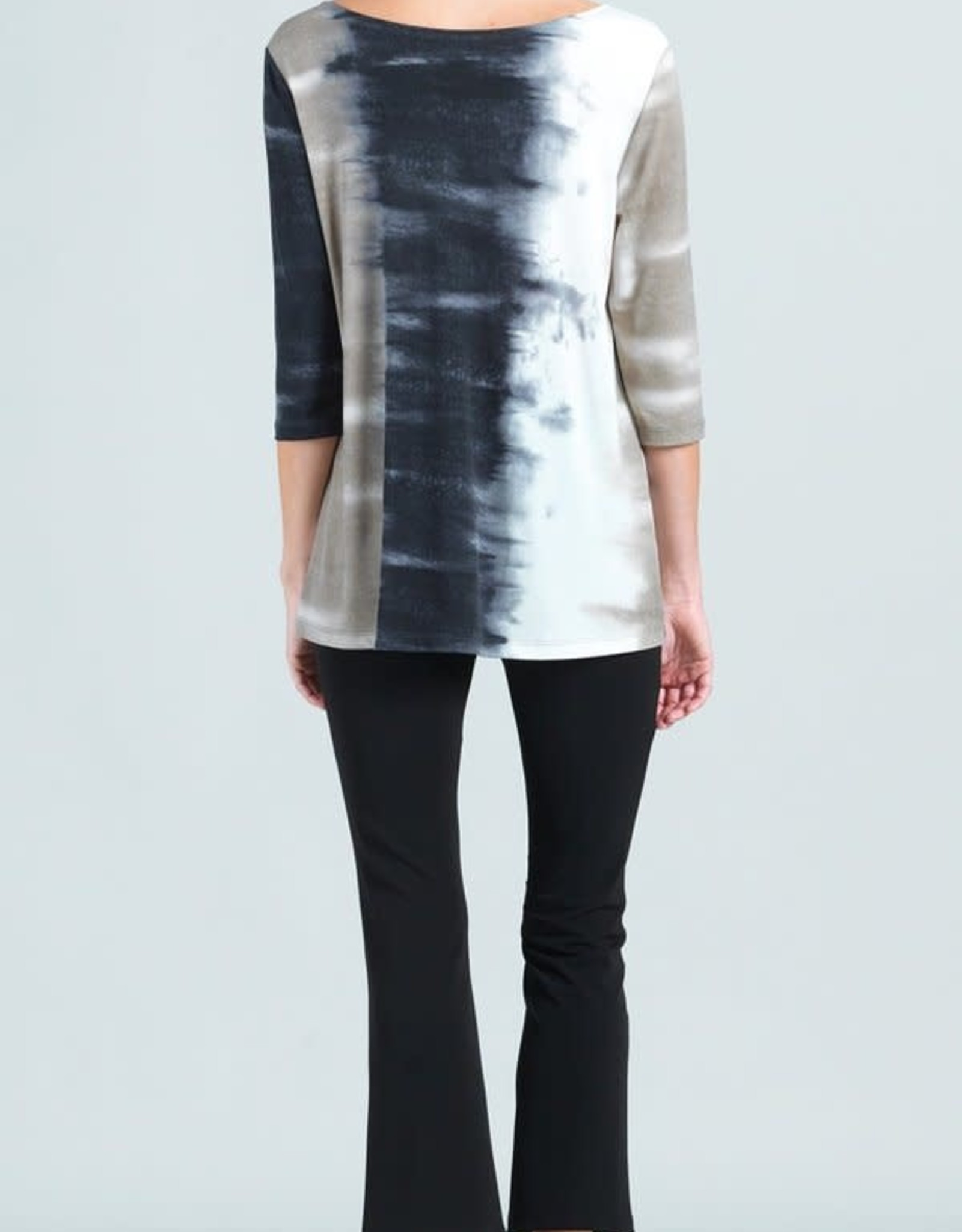 - Taupe/Black Ombre Print Tunic
