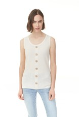 - Natural Rib Tank w/Buttons