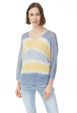 - Blue/Yellow Ombre Knit Top