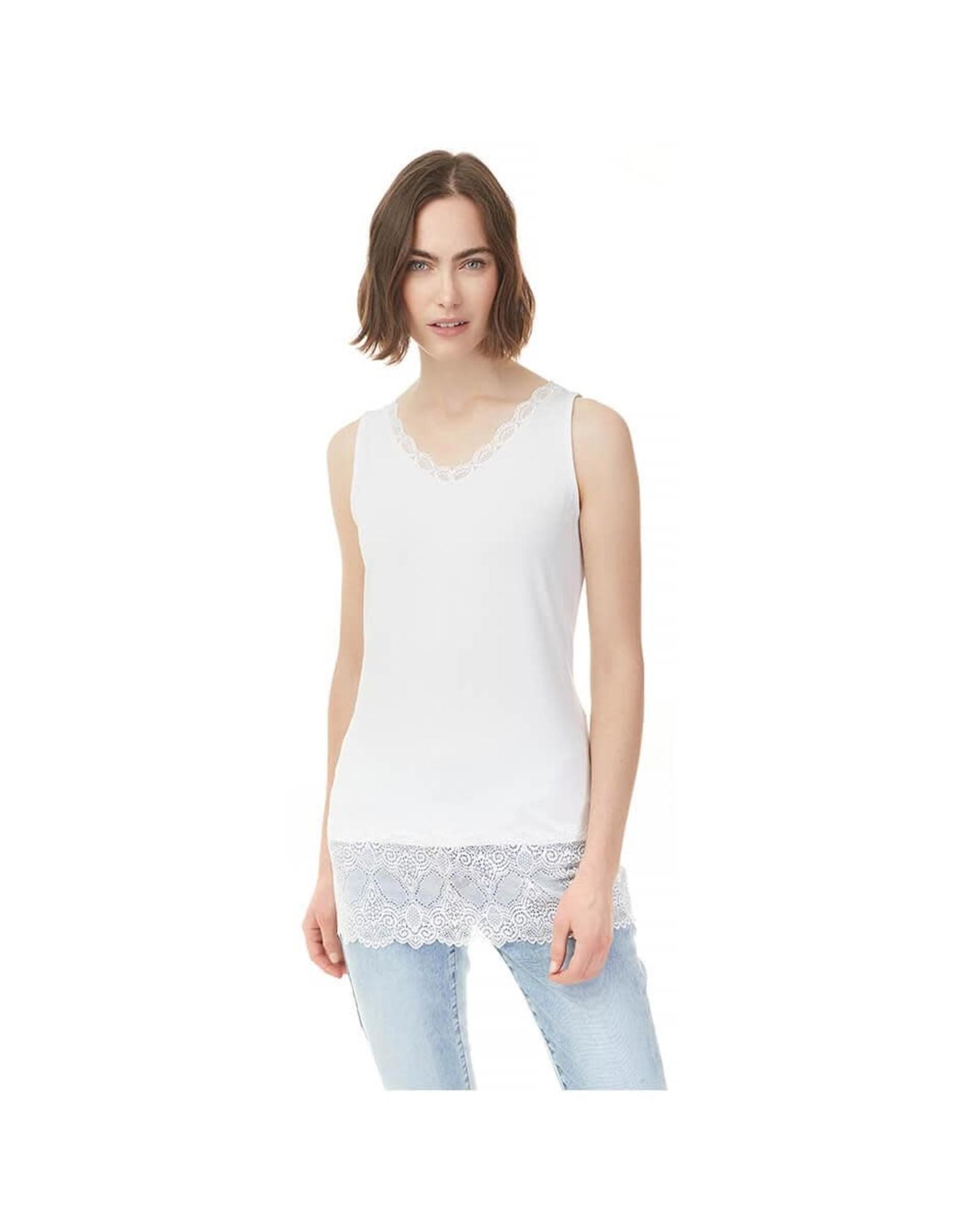 - White Lace Tank w/V-Neckline
