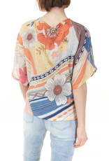 - Multi Color Floral Print Cotton Gauze Top
