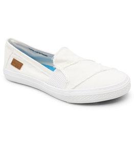 Blowfish White Smoked Canvas Slip-On Shoe