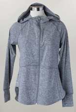 - Heather Grey Zip-Up Athletic Jacket