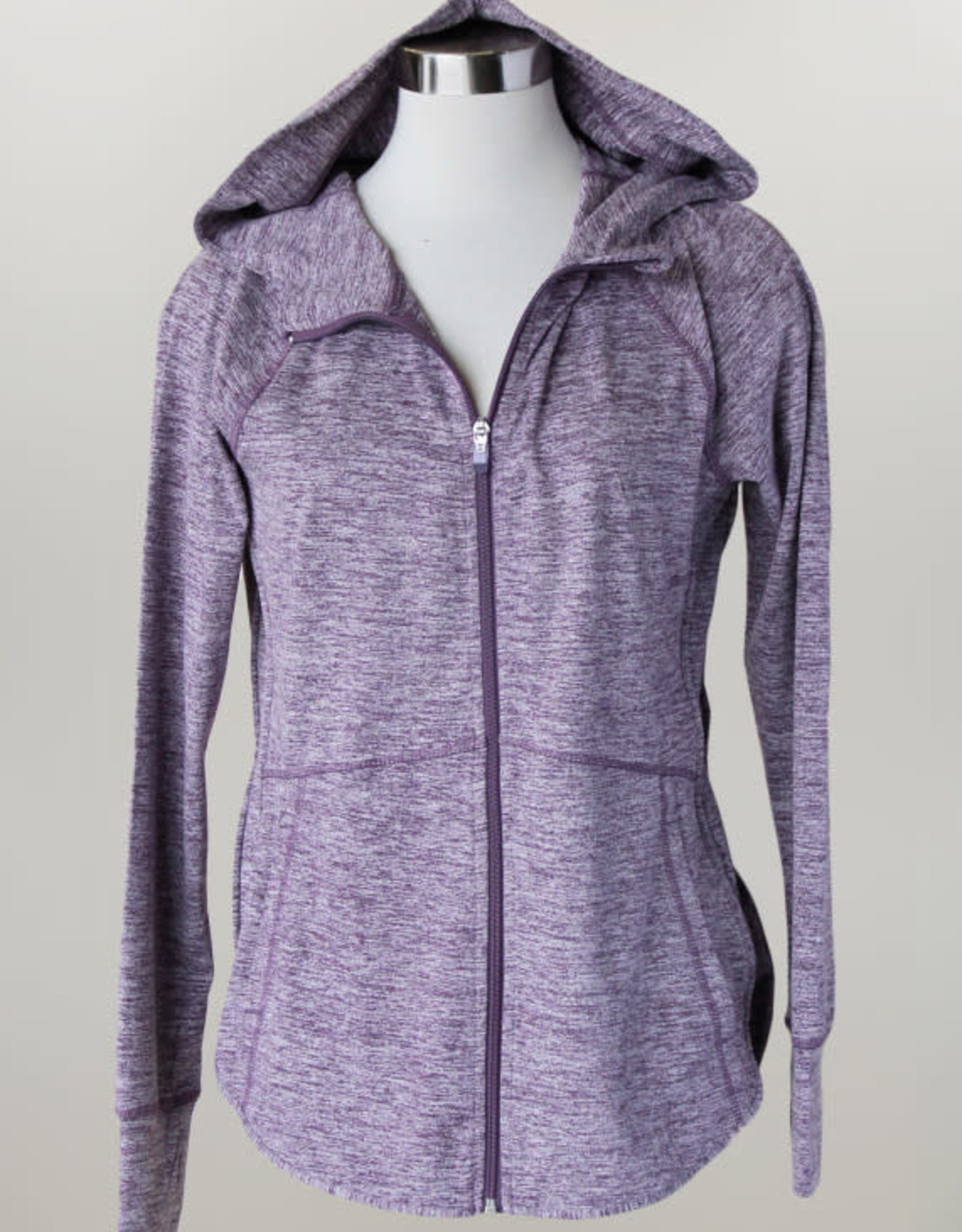 - Heather Purple Zip-Up Athletic Jacket