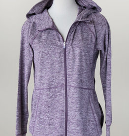 - Heather Purple Zip-Up Athletic Jacket