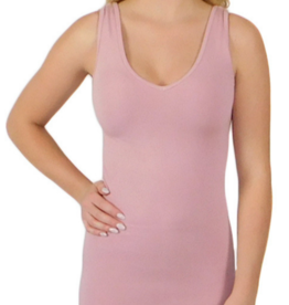 - Dusty Rose Reversible Neckline Tank