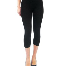 - Black High-Waisted Cropped Legging