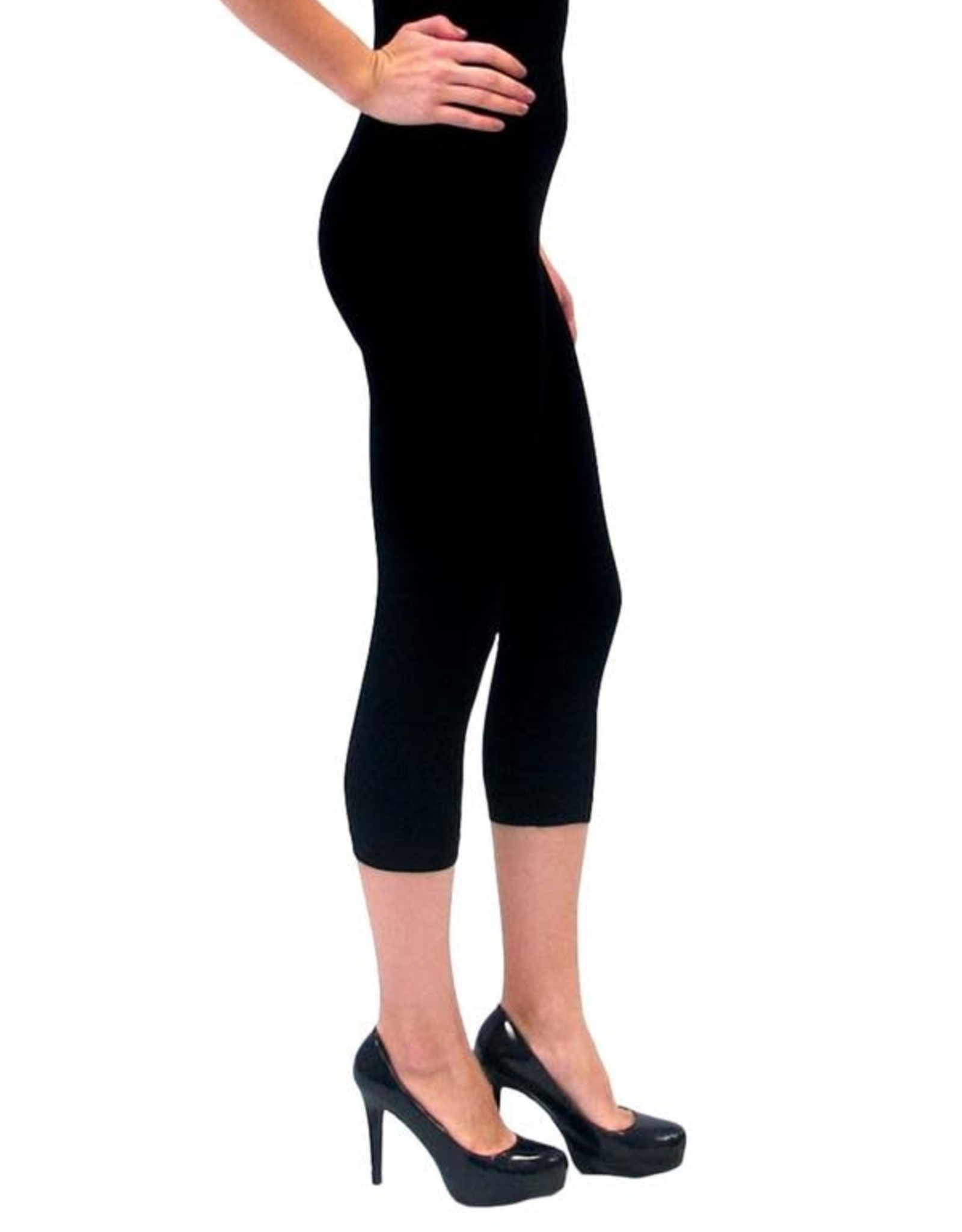 - Black High-Waisted Cropped Legging