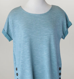 - Seafoam Green Top w/Side Buttons