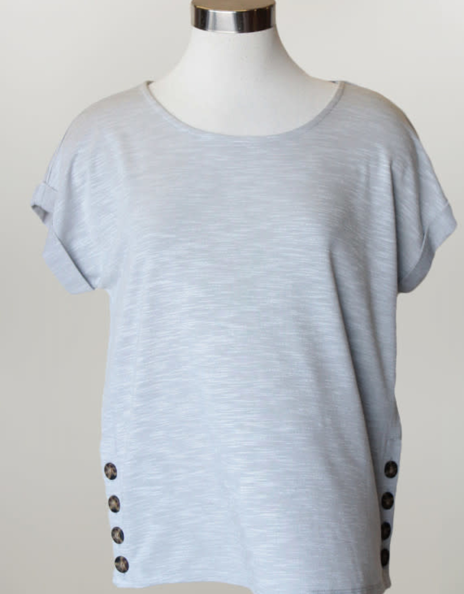 - Soft Green Top w/Side Buttons
