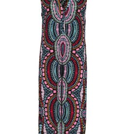 Tribal Multi Colored Print Dress w/V-neckline