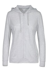 Tribal Grey/White Stripe Zip-up Hoodie