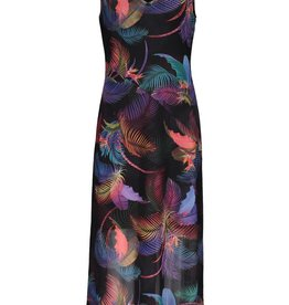 Tribal Multi Colored Tropical Print Maxi Dress
