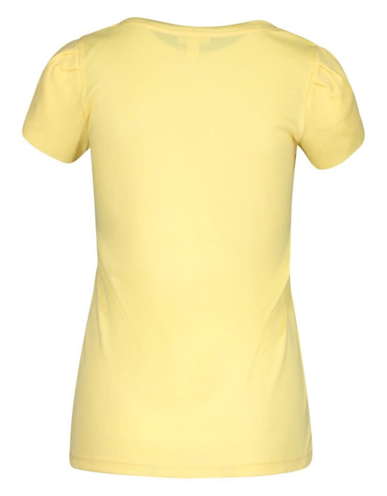 Tribal Yellow Henley Top w/Tulip Sleeve