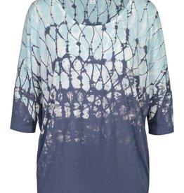 Tribal Navy/Mint Print 3/4 Sleeve Top