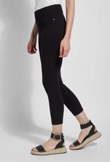 Lysse Black Knit Toothpick Denim Crop Legging
