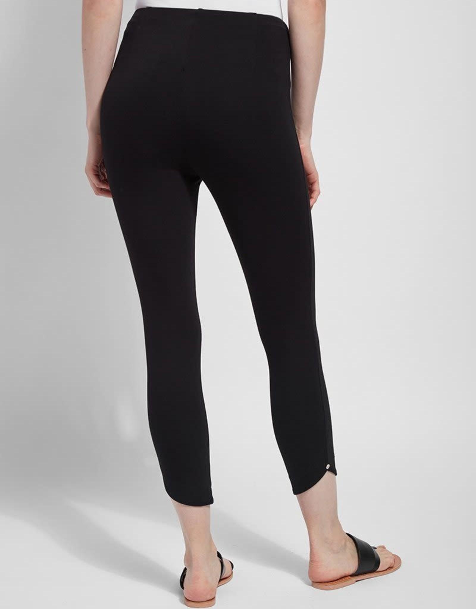Lysse Black Crop Ponte Legging w/Ankle Embellishment