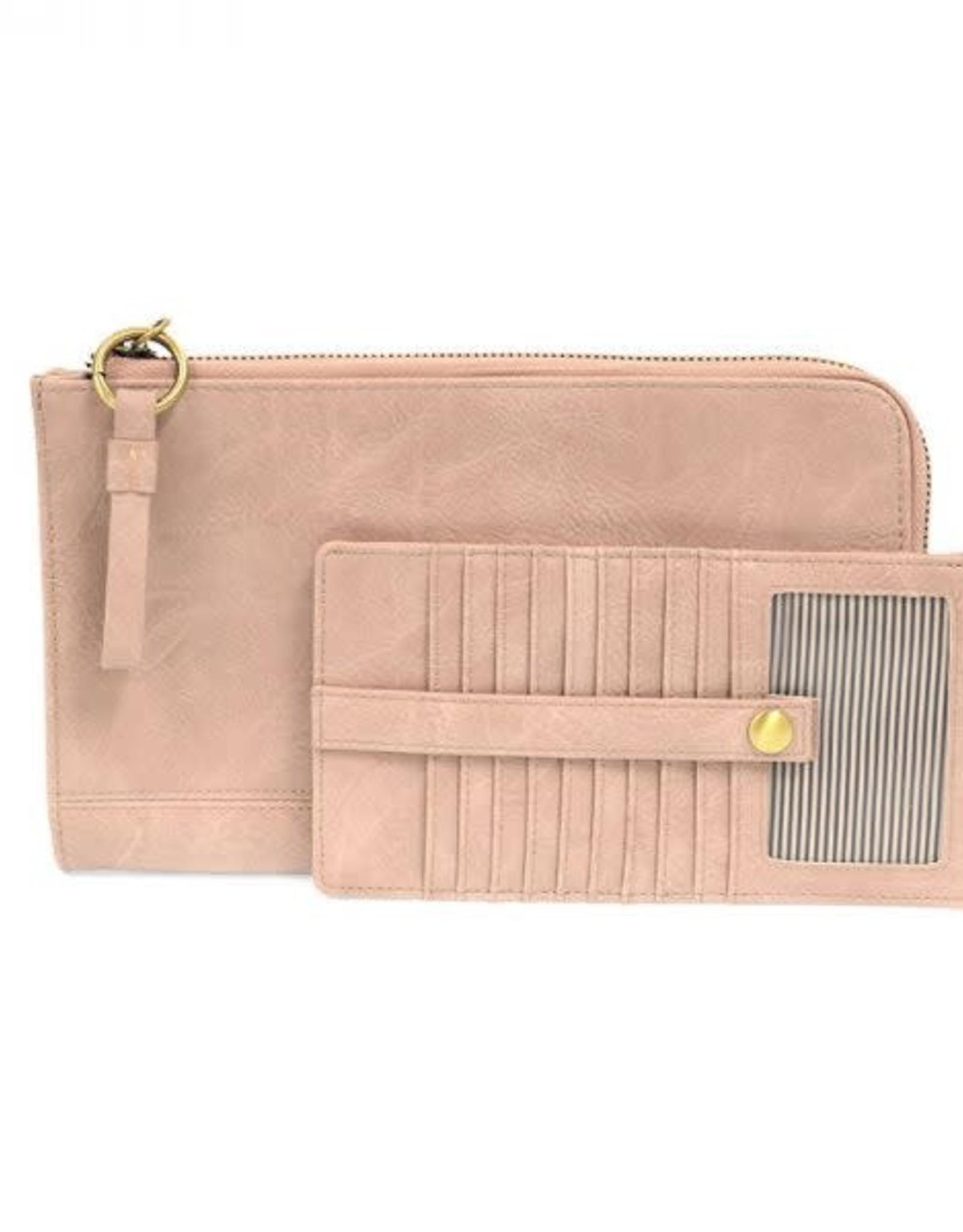 - Light Pink Convertible Wristlet & Wallet