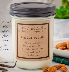 - Almond Vanilla 14oz Soy Wax Candle