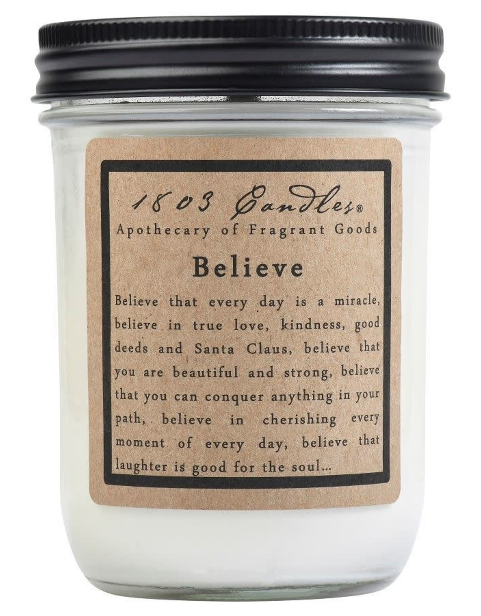- Believe 14oz Soy Wax Candle