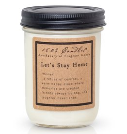 - Let's Stay Home 14oz Soy Wax Candle