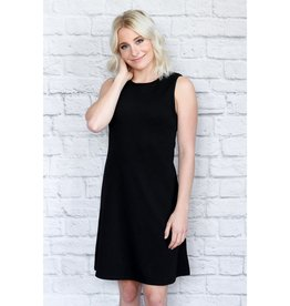 - Black A-Line Crinkle Tank Dress