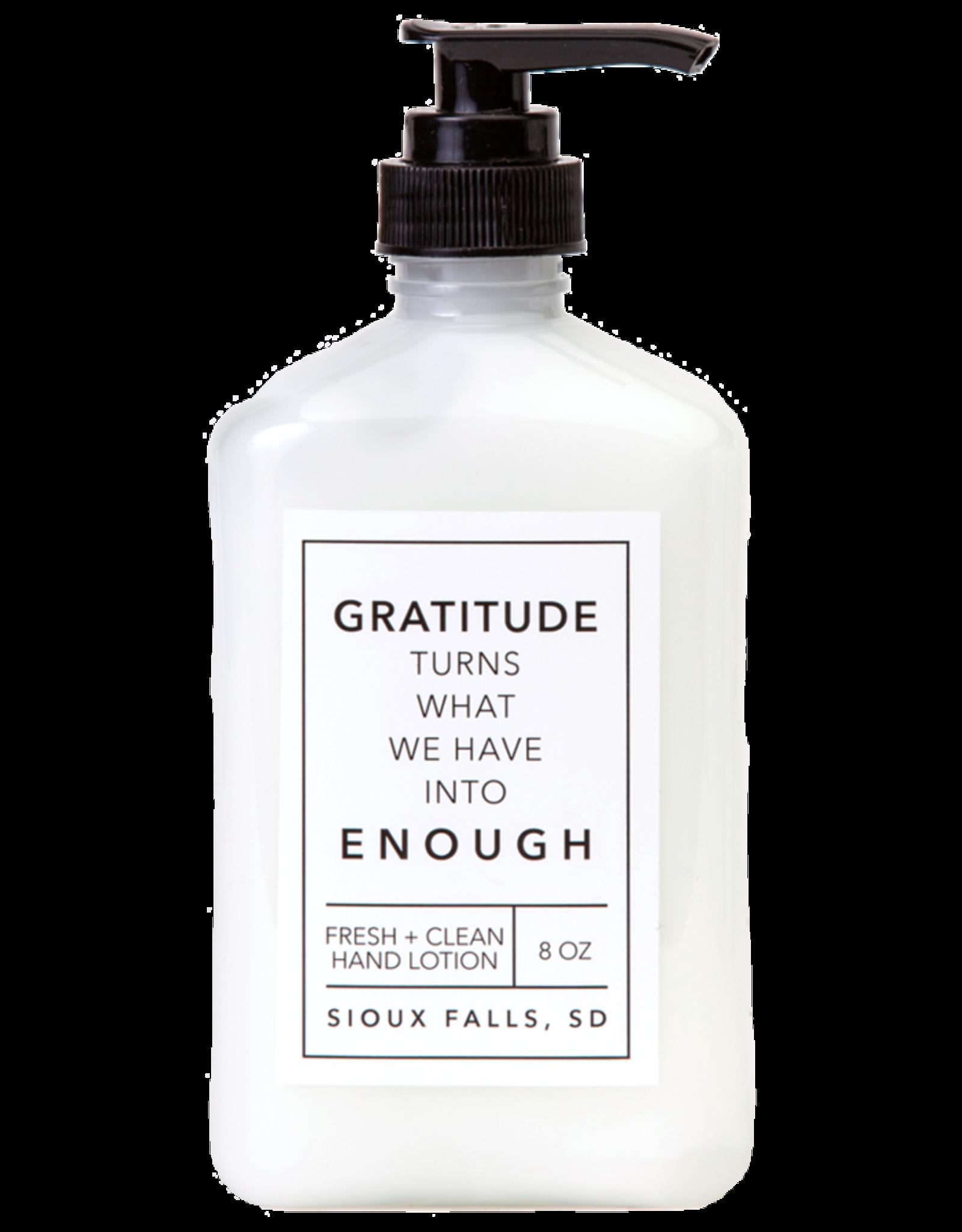 - Gratitude 8oz Hand Lotion