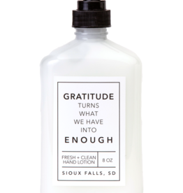 - Gratitude 8oz Hand Lotion